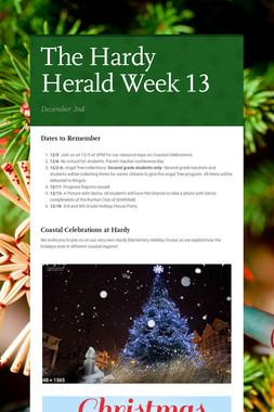 The Hardy Herald Week 13