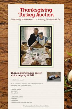 Thanksgiving Turkey Auction