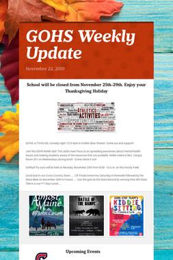 GOHS Weekly Update