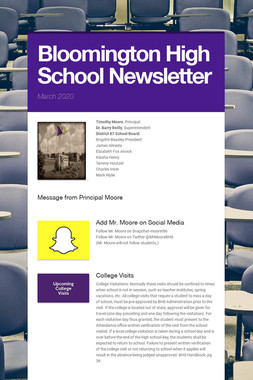 Bloomington High School Newsletter