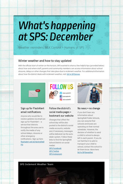 What's happening at SPS: December