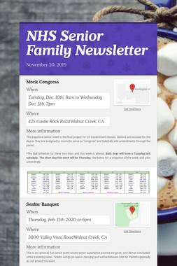 NHS Senior Family Newsletter