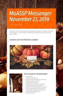 MoASSP Messenger November 22, 2019