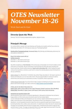 OTES Newsletter November 18-26