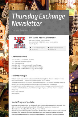 Thursday Exchange Newsletter