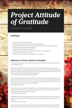 Project Attitude of Gratitude