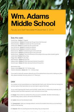 Wm. Adams Middle School