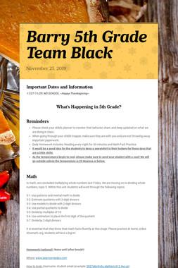 Barry 5th Grade Team Black