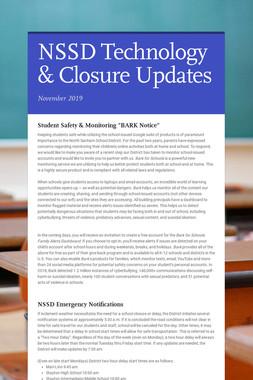 NSSD Technology & Closure Updates