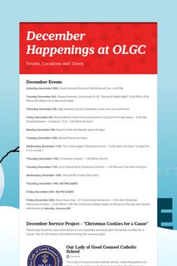 December Happenings at OLGC