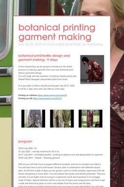 botanical printing garment making
