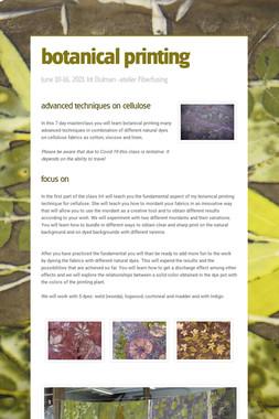 botanical printing