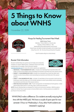 5 Things to Know about WNHS