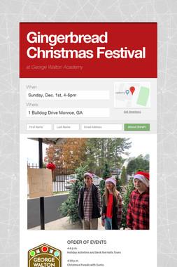 Gingerbread Christmas Festival