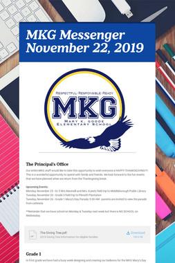 MKG Messenger November 22, 2019