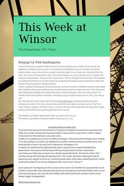 This Week at Winsor