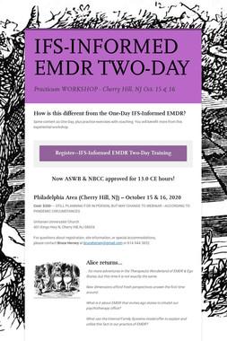 IFS-INFORMED EMDR TWO-DAY