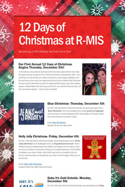 12 Days of Christmas at R-MIS