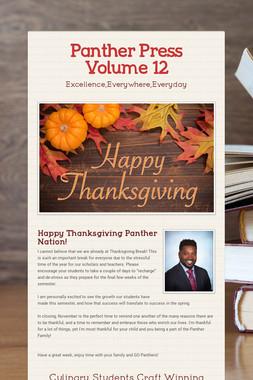 Panther Press Volume 12