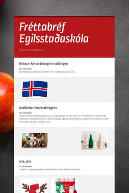 Fréttabréf Egilsstaðaskóla