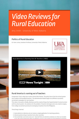 Video Reviews for Rural Education