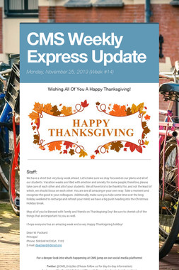 CMS Weekly Express Update