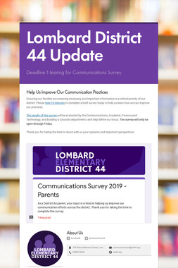 Lombard District 44 Update