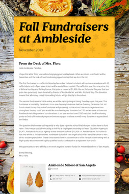 Fall Fundraisers at Ambleside