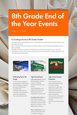 8th Grade End of the Year Events