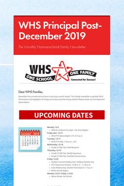 WHS Principal Post- December 2019