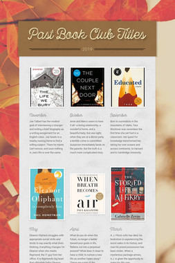 Past Book Club Titles
