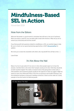 Mindfulness-Based SEL in Action