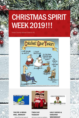 CHRISTMAS SPIRIT WEEK 2019!!!