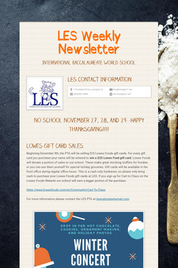 LES Weekly Newsletter