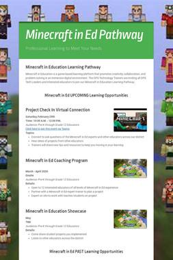 Minecraft in Ed Pathway