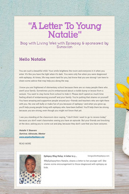 """""""A Letter To Young Natalie"""""""