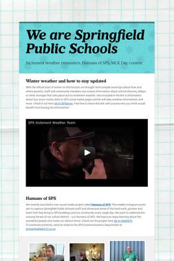 We are Springfield Public Schools
