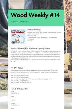 Wood Weekly #14