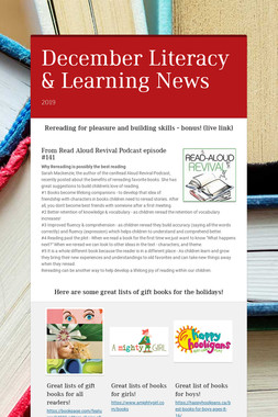 December Literacy & Learning News