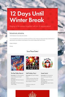 12 Days Until Winter Break