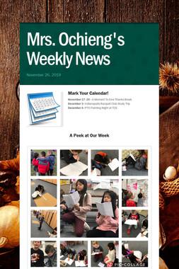 Mrs. Ochieng's Weekly News