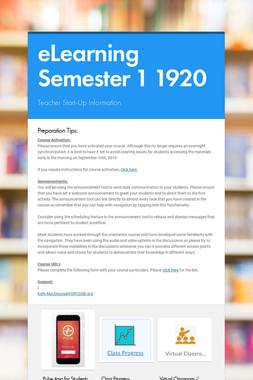 eLearning Semester 1 1920