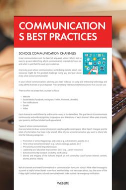 COMMUNICATIONS BEST PRACTICES