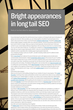 Bright appearances in long tail SEO