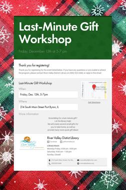 Last-Minute Gift Workshop