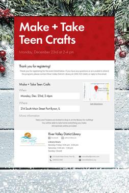 Make + Take Teen Crafts