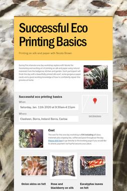 Successful Eco Printing Basics