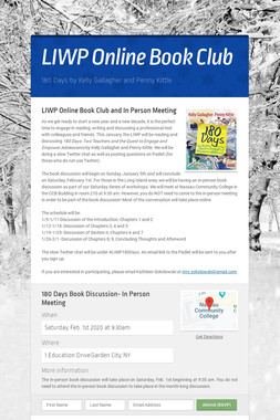 LIWP Online Book Club