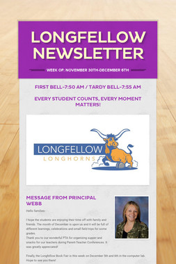 Longfellow Newsletter