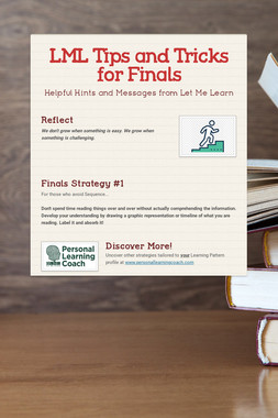 LML Tips and Tricks for Finals